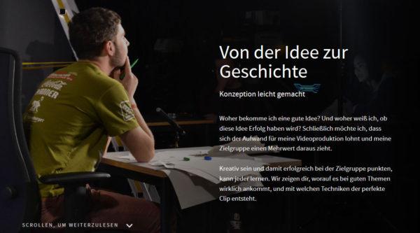 Multimedia-Reportage Ideenfindung und Konzeption